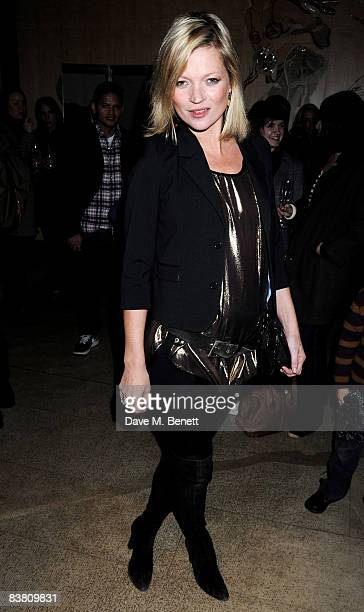 Kate Moss attends a private party to see the Christmas lights switch on at the Stella McCartney store on November 24 2008 in London England