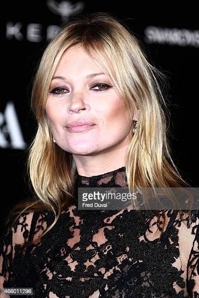 Kate Moss attends a private view for the 'Alexander McQueen Savage Beauty' exhibition at Victoria Albert Museum on March 12 2015 in London England