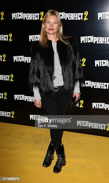 Kate Moss attends a VIP screening of 'Pitch Perfect 2' at The Mayfair Hotel on April 30 2015 in London England