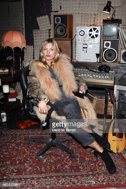 Kate Moss attends an after party following a special screening of Jim Jarmusch's 'Only Lovers Left Alive' at Heaven on February 6 2014 in London...