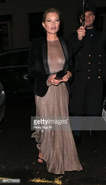 Kate Moss attends Ara Vartanian x Kate Moss launch party on May 17 2017 in London England