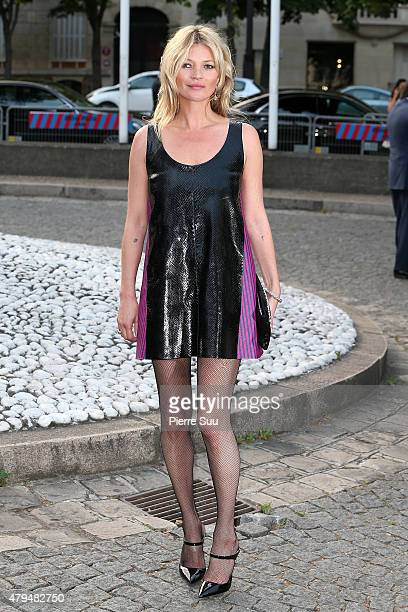 Kate Moss attends Miu Miu Club Launch of the First Miu Miu Fragrance and Croisiere 2016 Collection at Palais d'Iena on July 4 2015 in Paris France