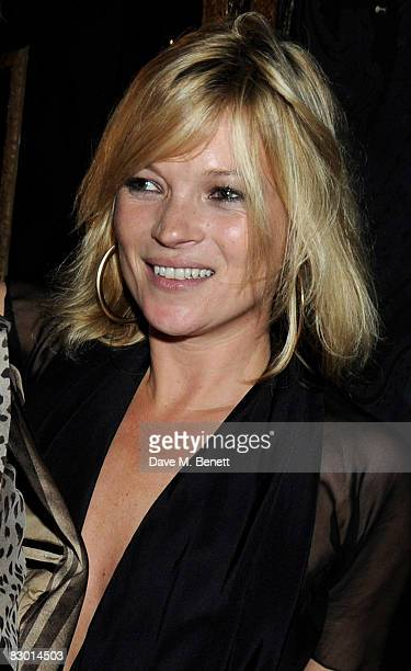 Kate Moss attends the Agent Provocateur fragrance launch party at the Dolce Club on September 25 2008 in London England