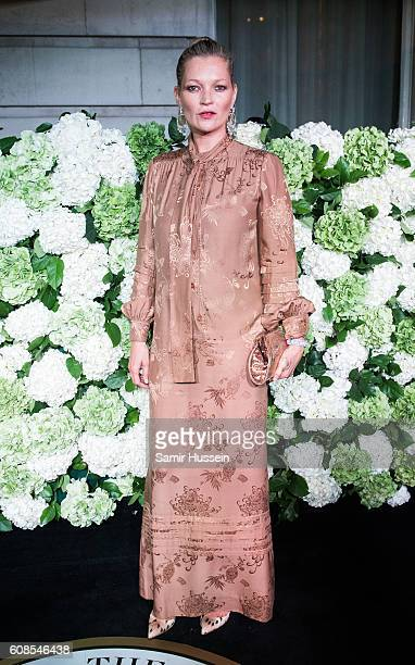 Kate Moss attends the #BoF500 Gala Dinner during London Fashion Week Spring/Summer collections 2016/2017 on September 19 2016 in London United Kingdom