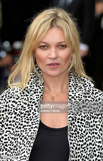 Kate Moss attends the Burberry Prorsum show during London Fashion Week Spring/Summer 2016/17 on September 21 2015 in London England