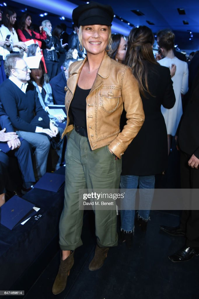 Kate Moss attends the Christian Dior show as part of the Paris Fashion Week Womenswear Fall/Winter 2017/2018 on March 3, 2017 in Paris, France.
