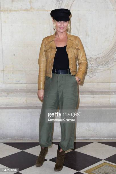 Kate Moss attends the Christian Dior show as part of the Paris Fashion Week Womenswear Fall/Winter 2017/2018 on March 3 2017 in Paris France