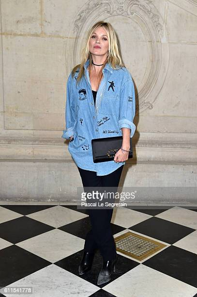 Kate Moss attends the Christian Dior show of the Paris Fashion Week Womenswear Spring/Summer 2017 on September 30 2016 in Paris France