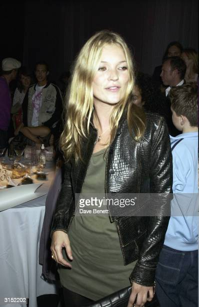 Kate Moss attends the Frost French Fashion Show 2003 at the Royal Horticultural Hall on September 23 2003 in London