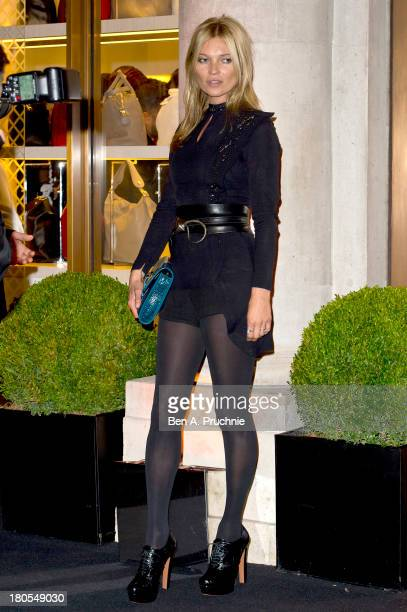 Kate Moss attends the grand opening party of Longchamp Regent Street on September 14 2013 in London England
