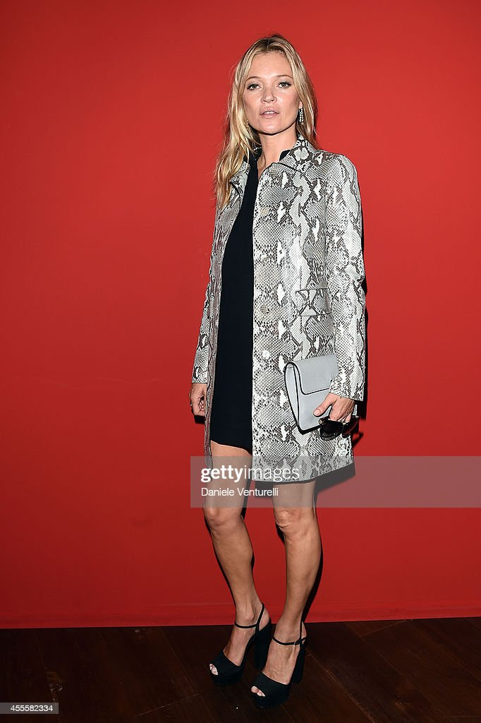 Kate Moss attends the Gucci show as part of Milan Fashion Week Womenswear Spring/Summer 2015 on September 17 2014 in Milan Italy