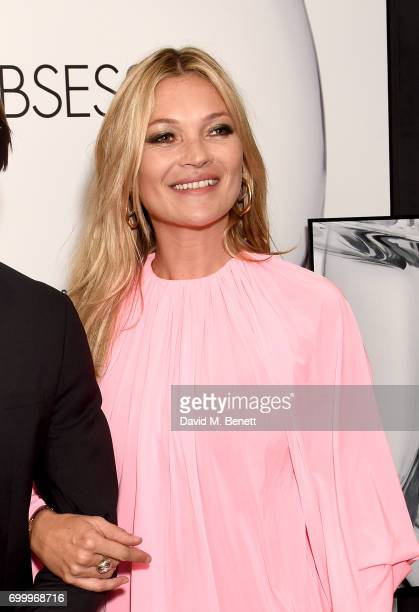 Kate Moss attends the Kate Moss Mario Sorrenti launch of the OBSESSED Calvin Klein fragrance at Spencer House on June 22 2017 in London England