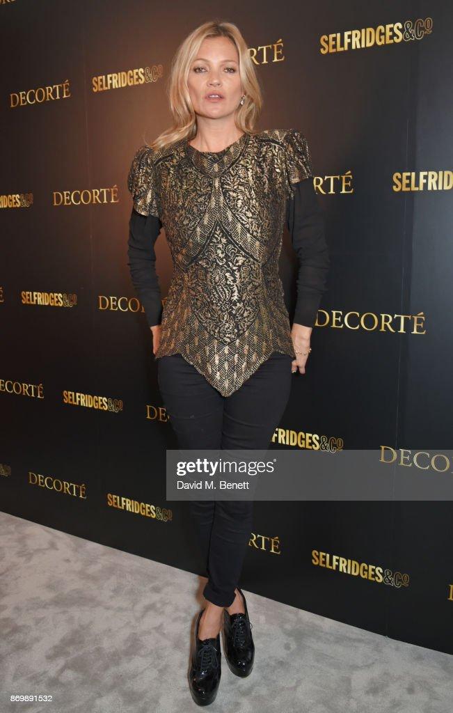 Decorte Celebrates Launch at Selfridges with Brand Ambassador Kate Moss