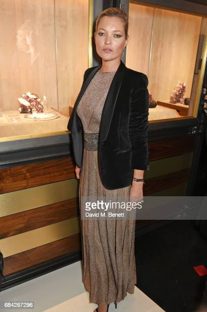 Kate Moss attends the launch of the KATE MOSS X ARA VARTANIAN collection on May 17 2017 in London England