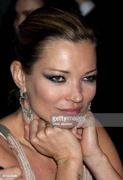 Kate Moss attends the Love Ball London at the Roundhouse on February 23 2010 in London England The event was hosted by Russian model Natalia...