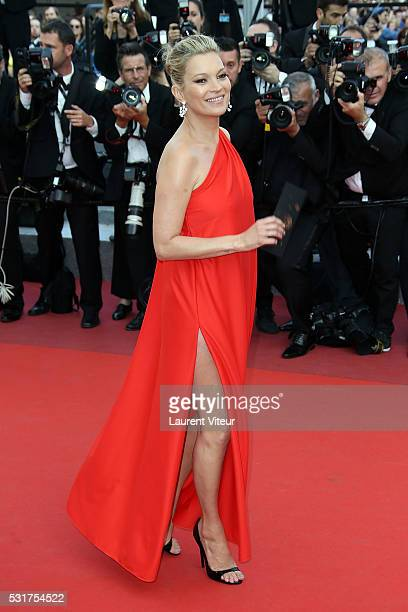 Kate Moss attends the 'Loving' premiere during the 69th annual Cannes Film Festival at the Palais des Festivals on May 16 2016 in Cannes