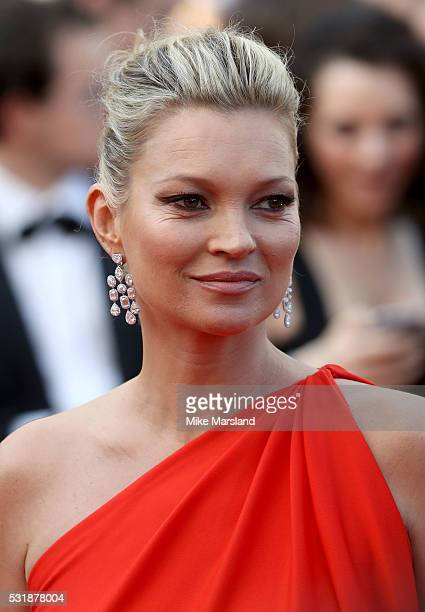 Kate Moss attends the 'Loving' premiere during the 69th annual Cannes Film Festival at the Palais des Festivals on May 16 2016 in Cannes France