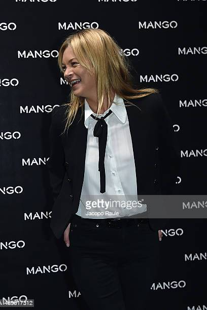 Kate Moss attends the Mango boutique opening during the Milan Fashion Week Spring/Summer 2016 on September 23 2015 in Milan Italy
