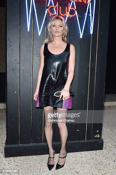 Kate Moss attends the Miu Miu Club Launch Of the First Miu Miu Fragrance And Croisiere 2016 Collection at Palais d'Iena on July 4 2015 in Paris France