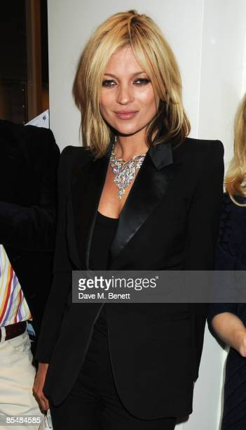 Kate Moss attends the Mummy Rocks official launch and charity auction in aid of the Great Ormond Street Hospital Children's Charity at Garrard on...