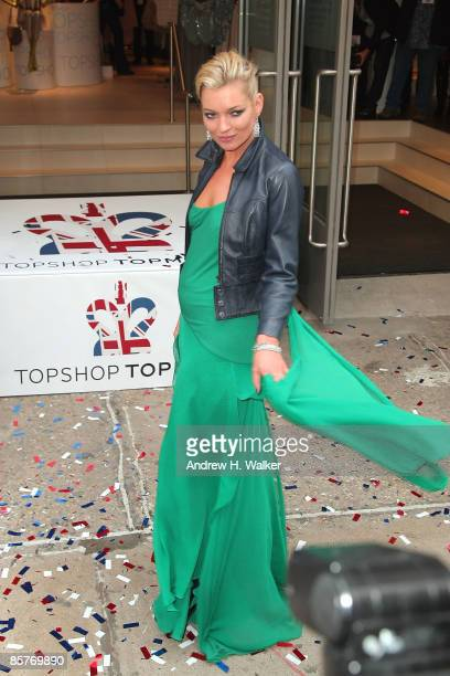 Kate Moss attends the opening of TOPSHOP TOPMAN on April 2 2009 in New York City