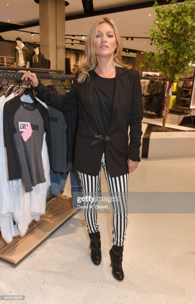 Kate Moss attends the Reserved UK store launch on Oxford Street on September 6, 2017 in London, England.