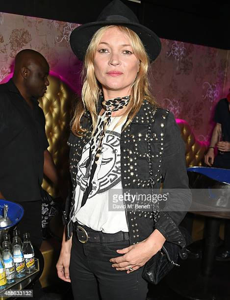 Kate Moss attends the ROCKINS London Fash Bash at The Cuckoo Club on September 16 2015 in London England