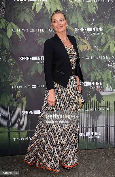 Kate Moss attends The Serpentine Summer Party CoHosted By Tommy Hilfiger at The Serpentine Gallery on July 6 2016 in London England