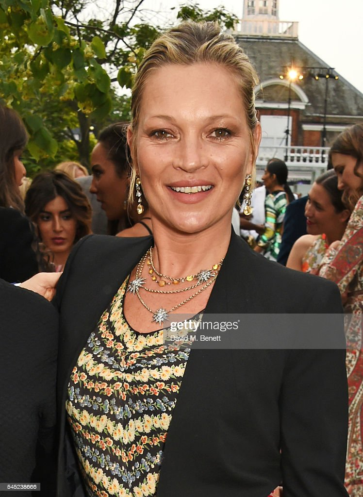 Kate Moss attends The Serpentine Summer Party co-hosted by Tommy Hilfiger on July 6, 2016 in London, England.