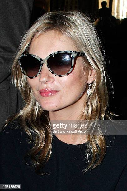 Kate Moss attends the Stella McCartney Spring / Summer 2013 show as part of Paris Fashion Week on October 1 2012 in Paris France