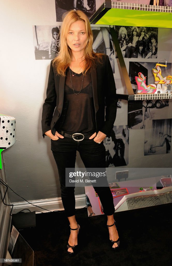 <a gi-track='captionPersonalityLinkClicked' href=/galleries/search?phrase=Kate+Moss&family=editorial&specificpeople=201830 ng-click='$event.stopPropagation()'>Kate Moss</a> attends the Terry de Havilland Store Opening at 8 Ganton Street on April 25, 2013 in London, England.