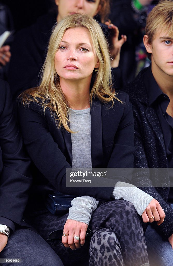 <a gi-track='captionPersonalityLinkClicked' href=/galleries/search?phrase=Kate+Moss&family=editorial&specificpeople=201830 ng-click='$event.stopPropagation()'>Kate Moss</a> attends the Unique show during London Fashion Week SS14 at TopShop Show Space on September 15, 2013 in London, England.