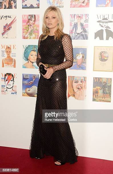 Kate Moss attends the Vogue 100 Gala Dinner at Kensington Gardens on May 22 2016 in London England