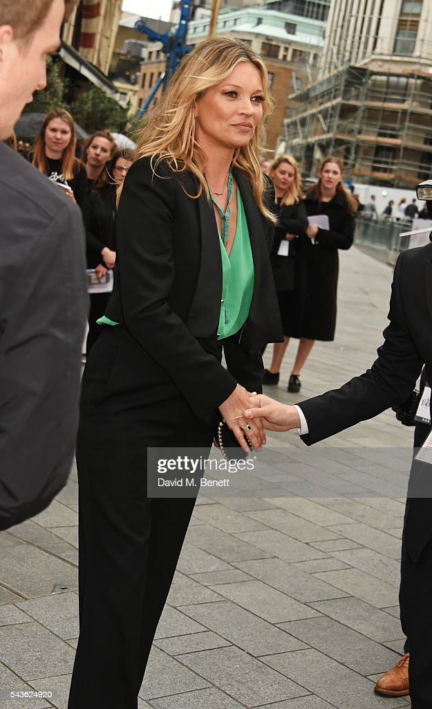 Kate Moss attends the World Premiere of 'Absolutely Fabulous: The Movie' at Odeon Leicester Square on June 29, 2016 in London, England.