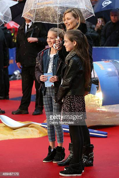 Kate Moss daughter Lila Grace Moss and guest attends the World Premiere of 'Paddington' at Odeon Leicester Square on November 23 2014 in London...