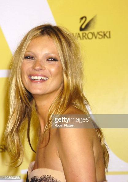Kate Moss during 2005 CFDA Fashion Awards Arrivals at The New York Public Library in New York City New York United States