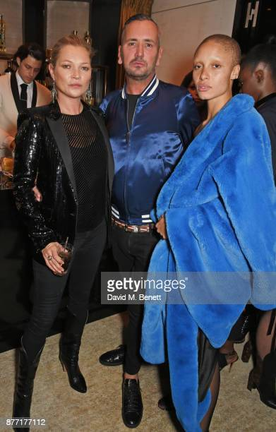Kate Moss Fat Tony and Adwoa Aboah attends Louis Vuittons Celebration of GingerNutz in Vogue's December Issue on November 21 2017 in London England