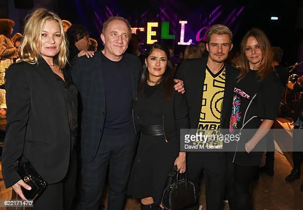 Kate Moss FrancoisHenri Pinault Salma Hayek Orlando Bloom and Stella McCartney attend the Stella McCartney Menswear launch and Women's Spring 2017...