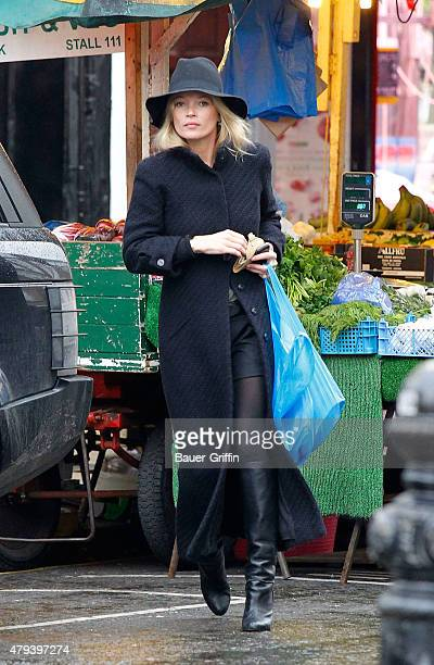 Kate Moss is seen at Portobello Road Market on February 01 2011 in London United Kingdom