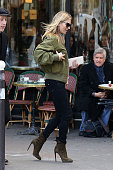 Kate Moss is seen at SaintGermaindesPres on November 6 2014 in Paris France