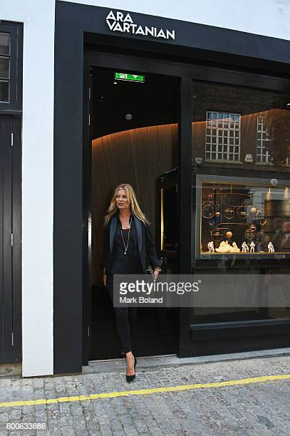 Kate Moss is seen leaving the Ara Vartanian jewellery boutique on September 8 2016 in London England