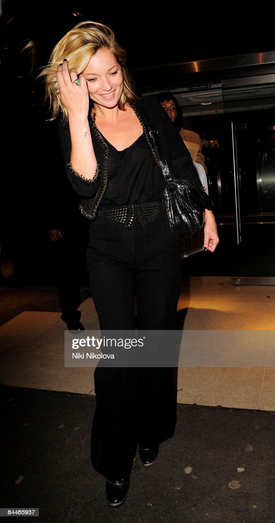 Kate Moss is seen leaving TopShop Headquarters on January 26, 2009 in London, England.