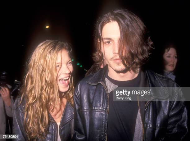 Kate Moss Johnny Depp in Los Angeles California