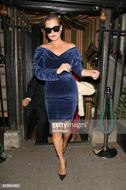Kate Moss leaving Annabel's club on September 7 2017 in London England
