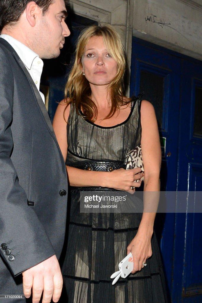 Kate Moss leaving Cafe De Paris on June 20, 2013 in London, England.