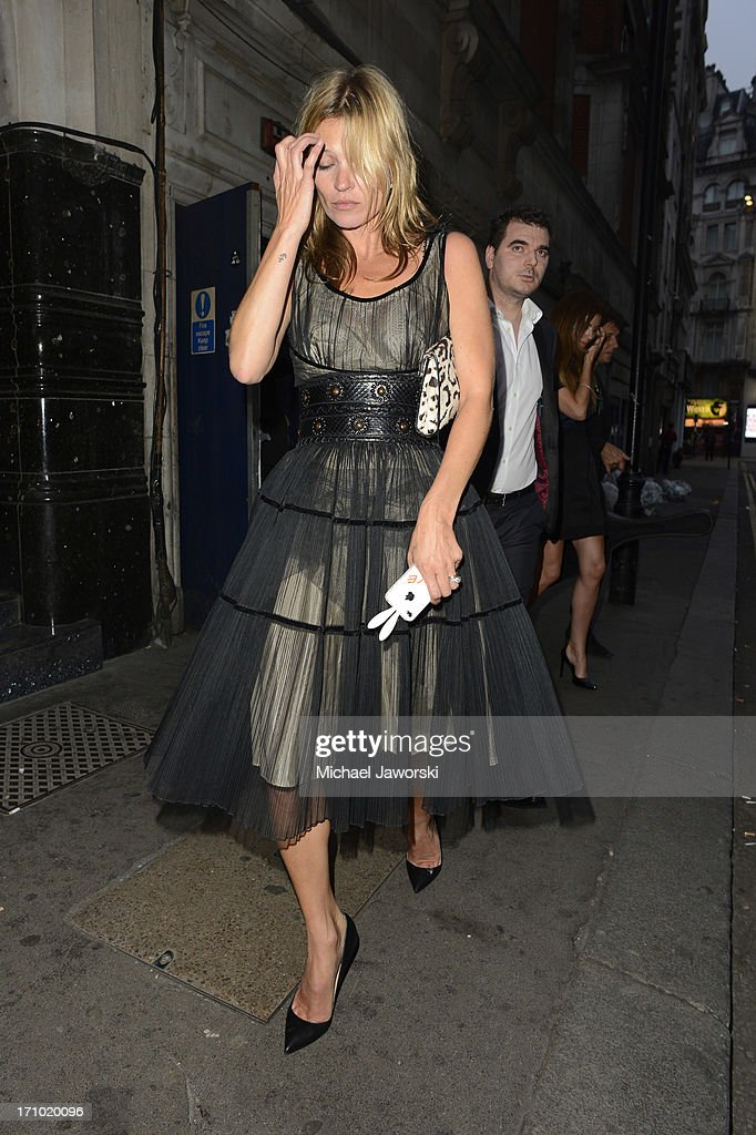 Kate Moss leaving Cafe De Paris on June 20, 2013 in London, England.