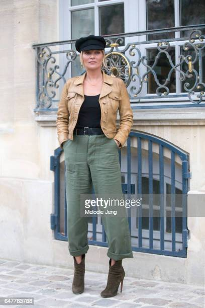 Kate Moss outside the Dior show on March 3 2017 in Paris France