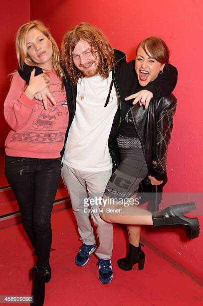 Kate Moss Same Old Sean and Jaime Winstone attend the launch of Same Old Sean's new EP 'Reckless' at Cafe KaiZen on November 13 2014 in London England
