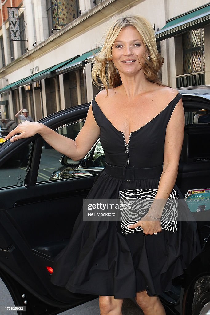 <a gi-track='captionPersonalityLinkClicked' href=/galleries/search?phrase=Kate+Moss&family=editorial&specificpeople=201830 ng-click='$event.stopPropagation()'>Kate Moss</a> seen arriving at The Ivy Club on July 18, 2013 in London, England.