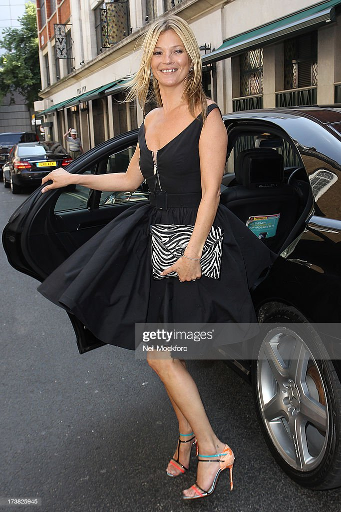 Kate Moss seen arriving at The Ivy Club on July 18, 2013 in London, England.